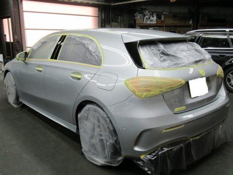 Mercedes-Benz  メルセデスベンツ  A180 スタイル AMGライン 磨き&親水性ガラスコーティング&オプション施工終了