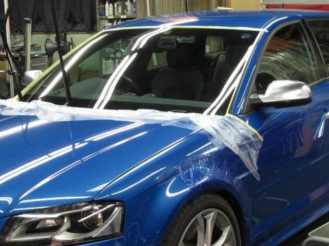 Audi  アウディ  S3 アバント オプション施工(ウインドウフッ素撥水コーティング)施工終了