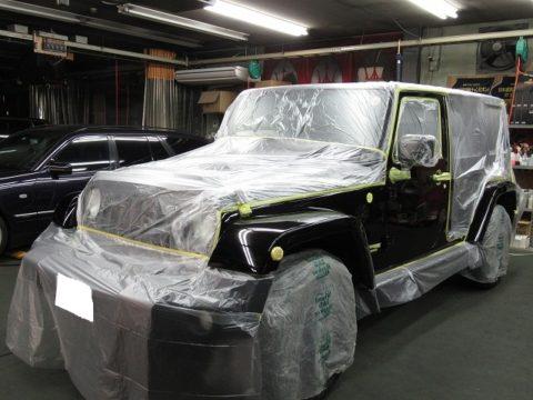 CHRYSLER クライスラー Jeep   ジープ ラングラー UNLIMITED ALTITUDE 磨き&ガラスコーティング&オプション補修・追加施工終了