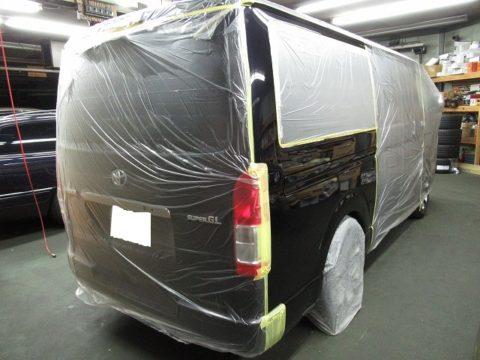 TOYOTA トヨタ ハイエース スーパーGL ダークプライムⅡ 2800 4WD 磨き&ガラスコーティング&オプション補修施工終了
