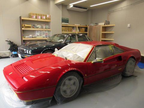 Ferrari  フェラーリ 328GTB(E-ZFFWA)磨き&コーティング施工終了