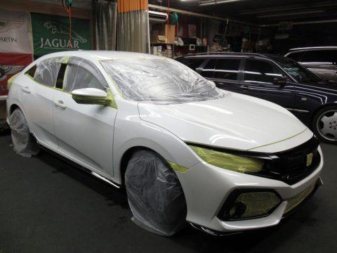 HONDA ホンダ シビック ハッチバック 新車=磨き&ガラスコーティング&オプション施工終了