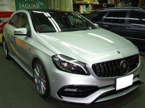 Mercedes-Ben  メルセデスベンツ AMG エーエムジー A45 4マチック 4WD 磨き&ガラスコーティング&オプション施工終了