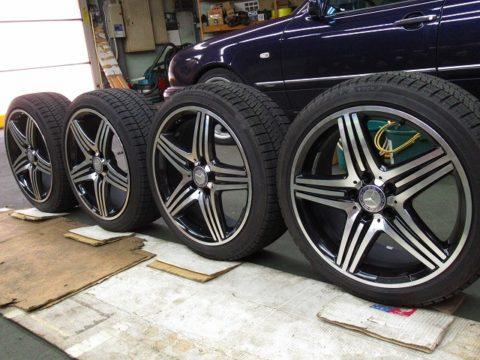 Mercedes-Benz  メルセデスベンツ  A180スポーツ(176042)用ホイルガラスコーティング=フルコート施工終了