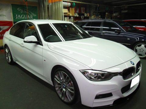 BMW ビーエムダブリュー 320i Mスポーツ 再施工=磨き&ガラスコーティング施工終了