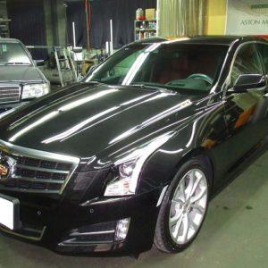 GM  ジーエム Cadillac キャデラック ATS パフォーマンス 磨き&ガラスコーティング&オプション施工終了