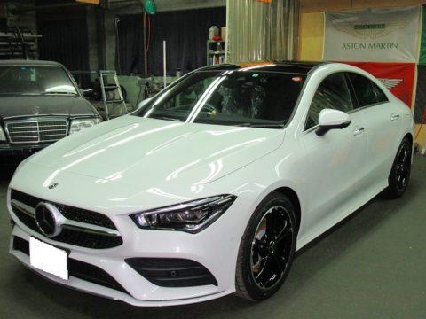 Mercedes-Benz メルセデスベンツ CLA 200d AMGライン ディーゼルターボ 磨き&ガラスコーティング&オプション施工終了