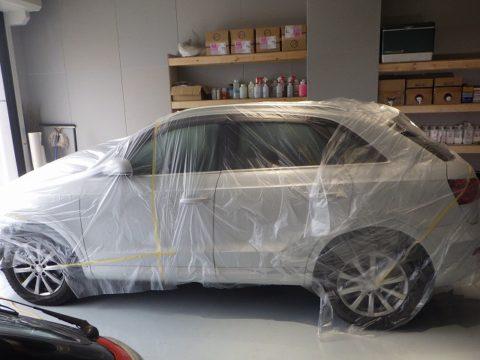Audi アウディ Q3 2.0TFSI クワトロ 180PS 4WDオプション施行=部分傷取り磨き=スポット磨き施工終了