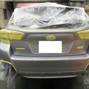 SUBARU スバル インプレッサスポーツ 2.0i-S EyeSight AWD(GT7)事故修理再塗装&修理パネル及び隣接パネル再ガラスコーティング&  オプション施行終了