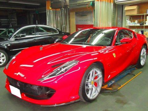 Ferrari フェラーリ 812スパーファスト F1DCT エクスペルフィルム専用シーラントコーティング&オプション施行終了