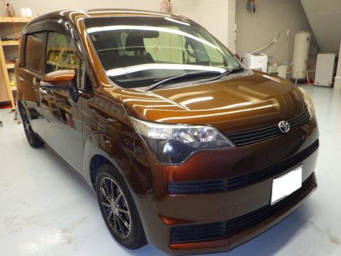 TOYOTA トヨタ スペイド1.5G 鉄粉飛散付着保険賠償=磨き&ガラスコーティング&オプション施工終了