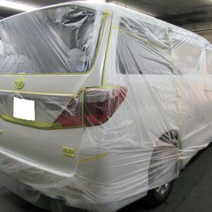 TOYOTA  トヨタ  アルファード・ ハイブリッド  SR 4WD メーカークレームリアハッチ再塗装=磨き+ガラスコーティング+オプション施行&メンテナンス3段階施工終了