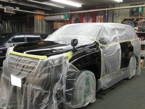 TOYOTA トヨタ ランドクルーザー・プラド TX Lパッケージ 部分補修=磨き&ガラスコーティング&オプション施行終了