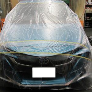 TOYOTA  トヨタ  プリウス PHV  プレミアム 事故保険賠償コーティング補修=磨き&ガラスコーティング&オプション施行終了してもソニー損保支払い拒否・・・