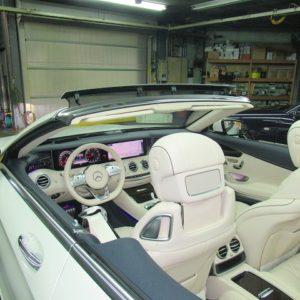 Mercedes-Benz メルセデスベンツ S56カブリオレ車内光触媒コーティング・プレミアム施工終了