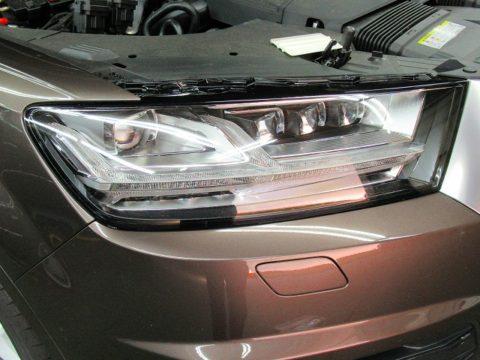 Audi  アウディ  Q7  55 TFSI quattro ヘッドライトカバー=磨き&エクスペルPPF貼り込み終了