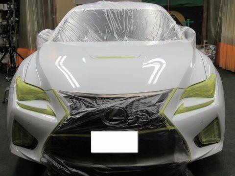 LEXUS  レクサス  RCF 事故修理&ガラスコーティング&オプション施工=  保険賠償&自費物販修理 終了