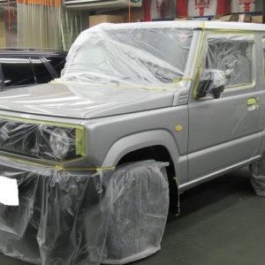SUZUKI  スズキ  ジムニー  XC  AT 事故修理完了→磨き&ガラスコーティング&オプション施工終了  (自費支払い分含む)