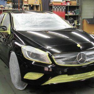 Mercedes-Benz  メルセデスベンツ  A180 スポーツ 磨き&ガラスコーティング&オプション施工終了
