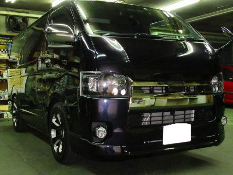 TOYOTA  トヨタ  ハイエース  スーパーGL  ダークプライムⅡ  2800  4WD メンテナンス&オプション施工&サービス施工終了