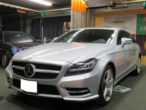 Mercedes-BenZ  メルセデスベンツ  CLS  550  4マチック  シューティングブレーク(DBA-218991)保険修理&自費施工=磨き終了&ガラスコーティング&オプション施工終了