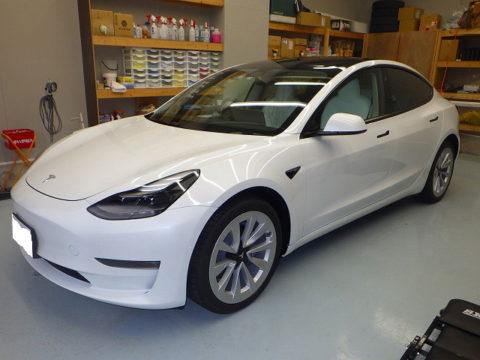 Tesla テスラ モデル3 デュアルモーターAWDロングレンジ(ZAA-3L23)オプション施工終了